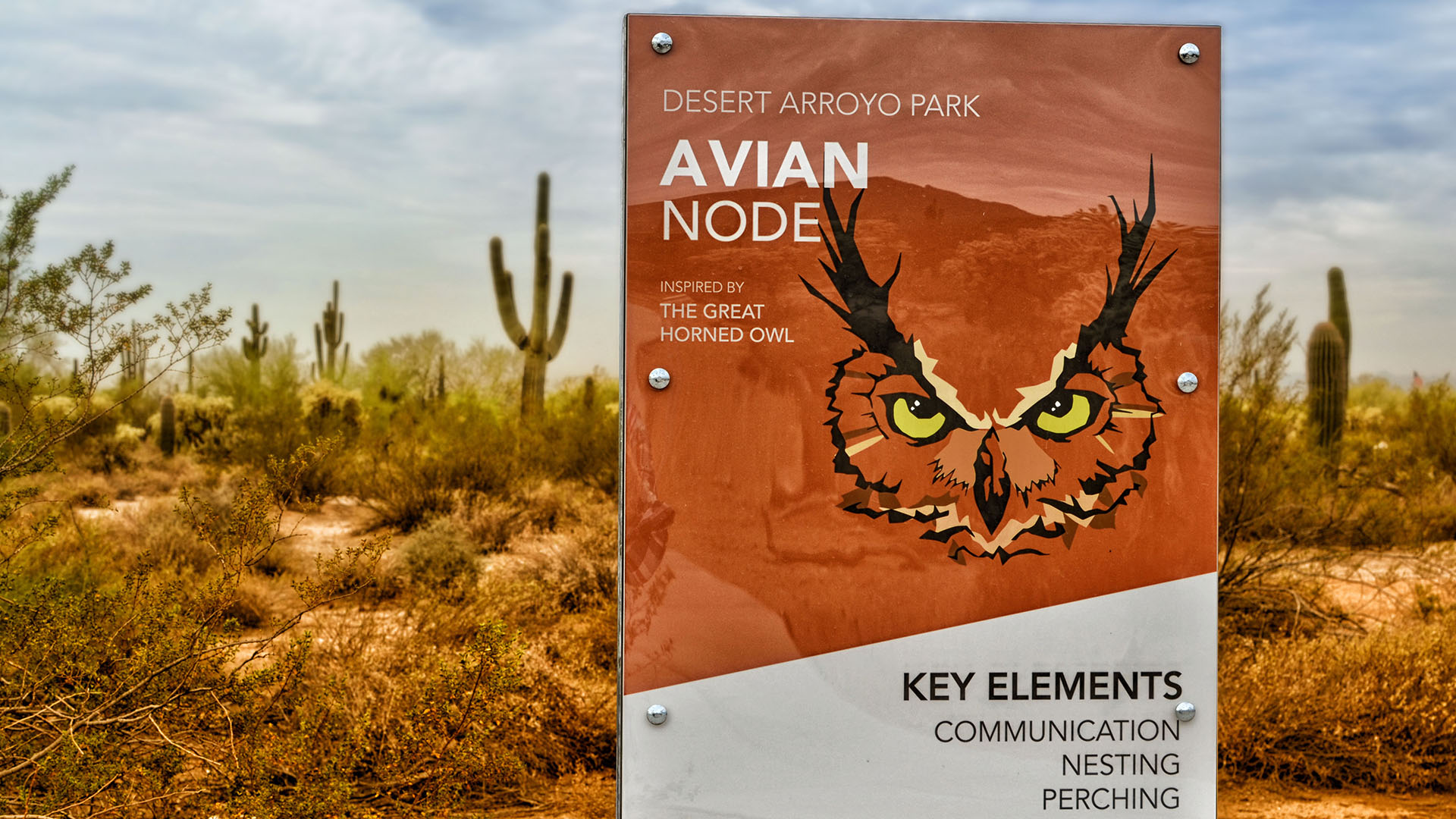 Educational sign about the Avian Node