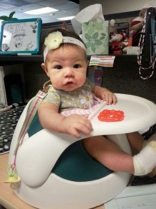 Baby on a desk