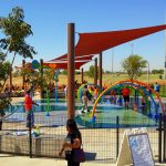 There are lots of ways to get wet at the Friendship Park splash pad