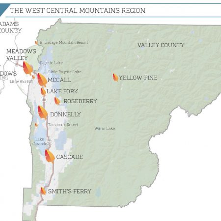 West Central Mountains Regional Map