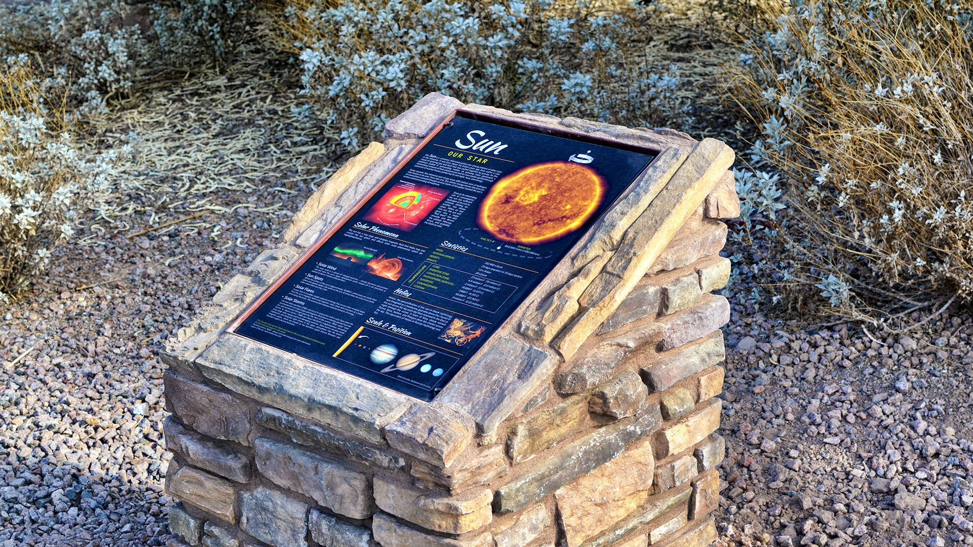 Howard Israel Solar Walk Sign Showing the Sun